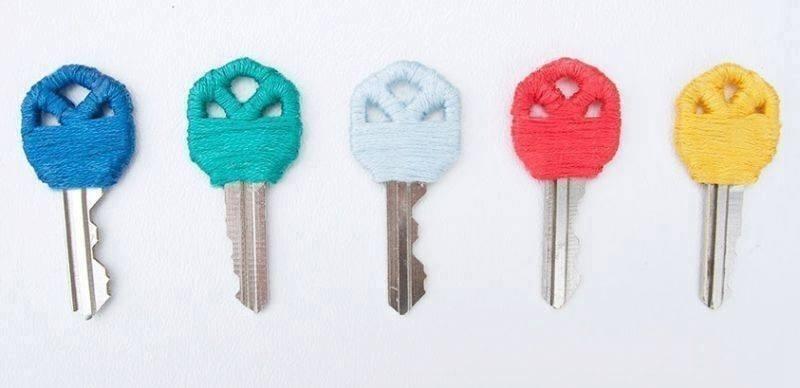 llaves con hilo