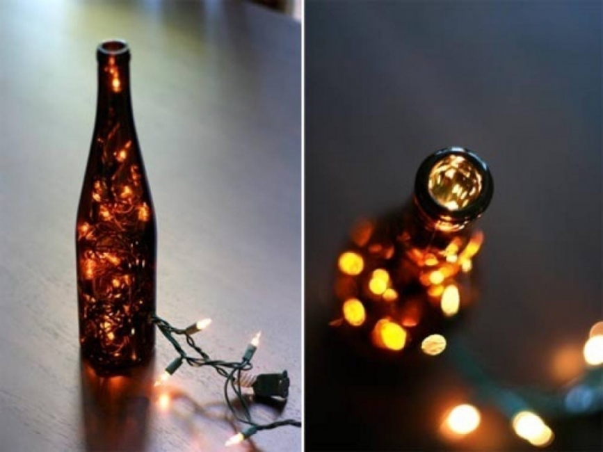 Luces en cadena - botellas
