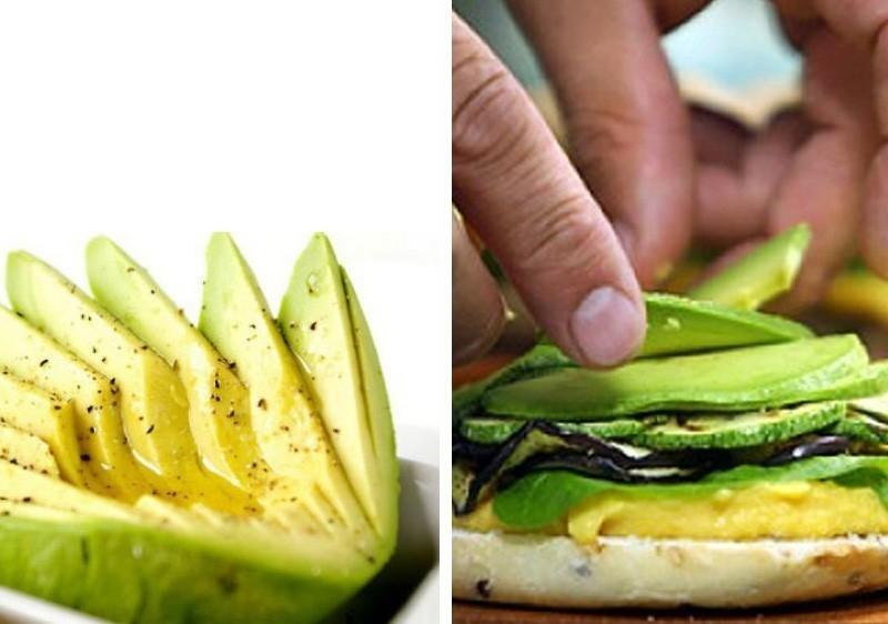 Sándwich de palta, espinaca y aderezo de calabaza- preparacion