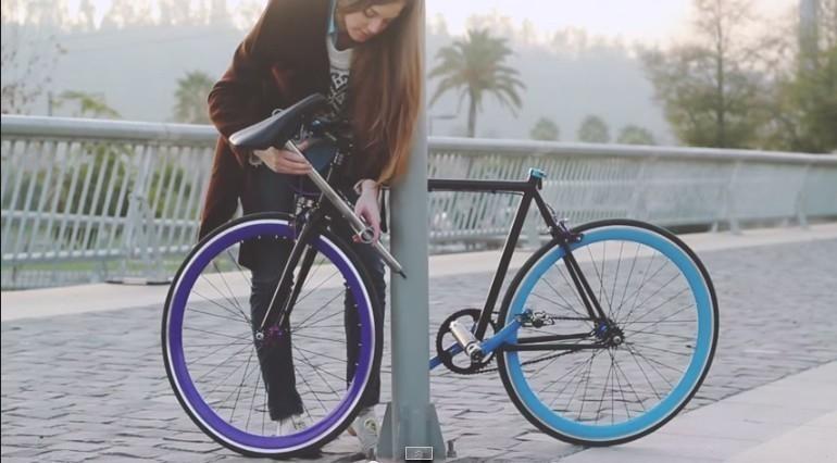 armado bicicleta candado