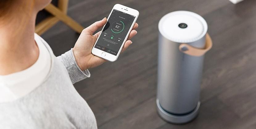 purificador de aire portátil que descompone el polvo-app