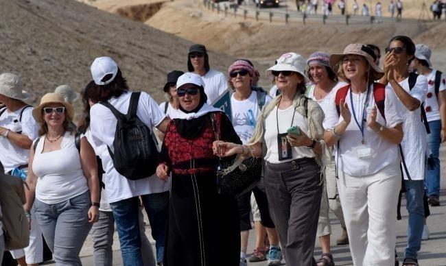 Mujeres marchan por la paz en Israel
