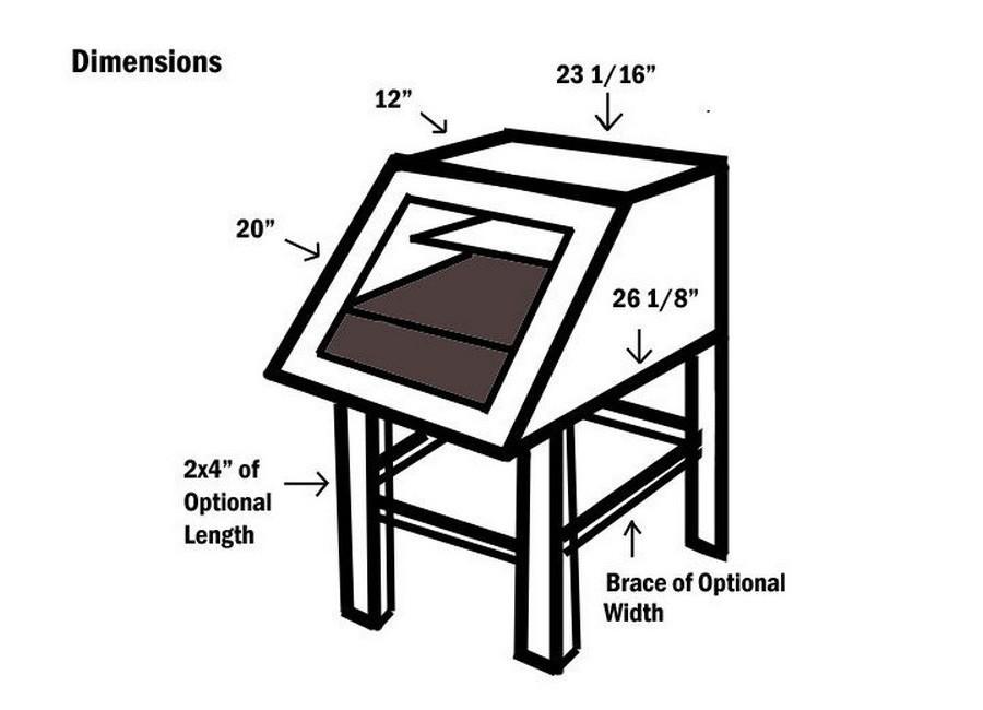 deshidratador solar casero de alimentos- dimensiones