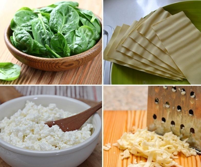 Mini lasañas de espinaca y ricota - ingredientes