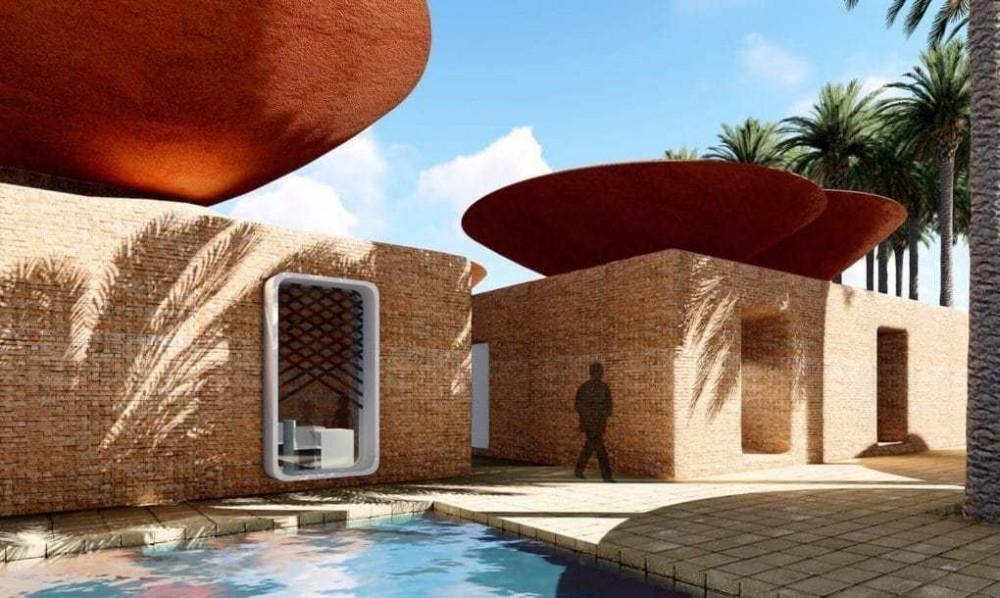Tejados con forma de cuenco para recoger el agua de lluvia y enfriar el ambiente de forma natural