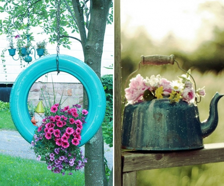 18 ideas para decorar patios y jardines for Ideas de decoracion baratas y originales