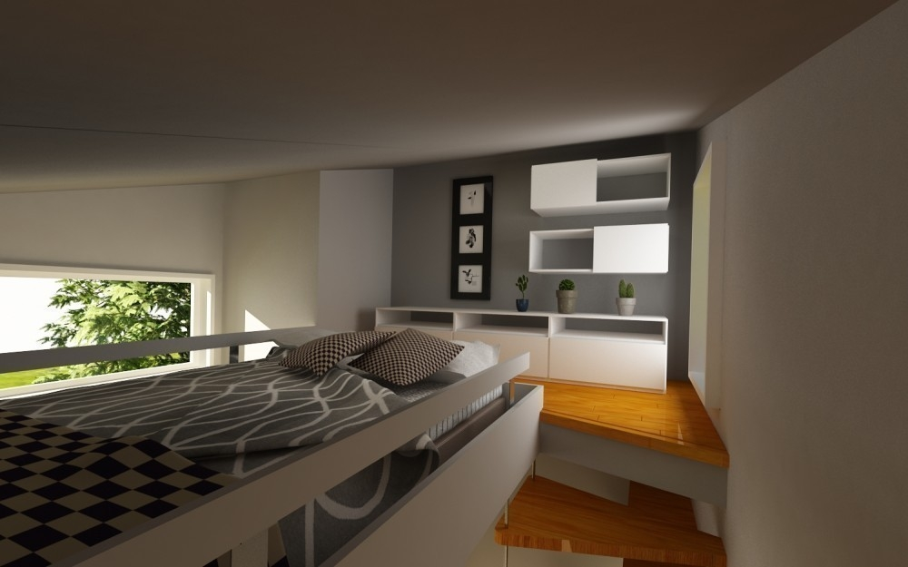 Una casita diminuta para dos, de construcción rápida y barata- habitación