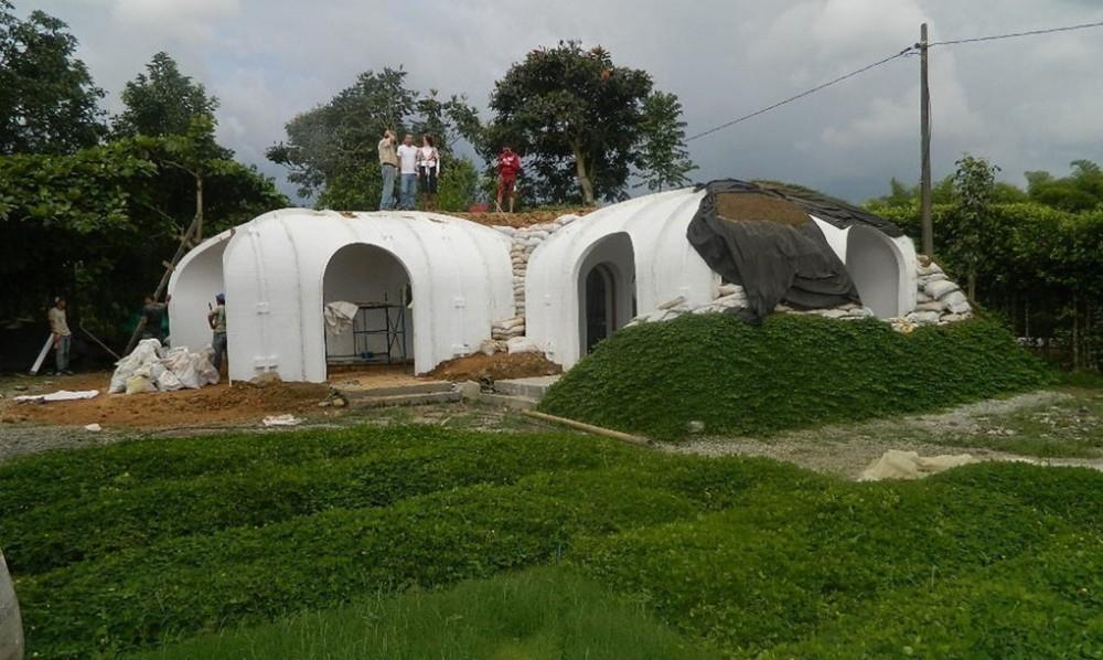 casas hobbit - techo verde