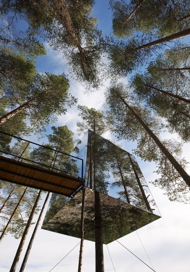 Un innovador eco hotel invisible en el bosque