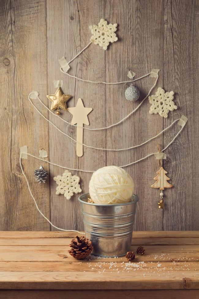 Árboles de Navidad para espacios pequeños - lana