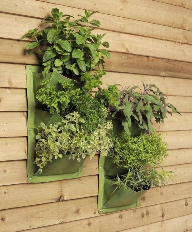 jardín vertical tela