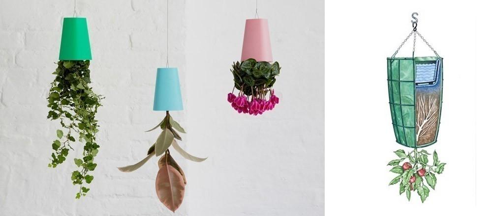Ideas para casas sin jardín- Huerta invertida