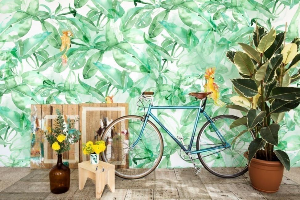Cómo decorar con estilo tropical- pared pintada