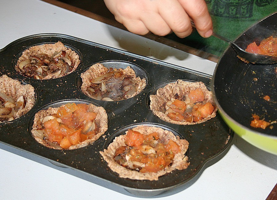 tarteletas de champiñones-relleno