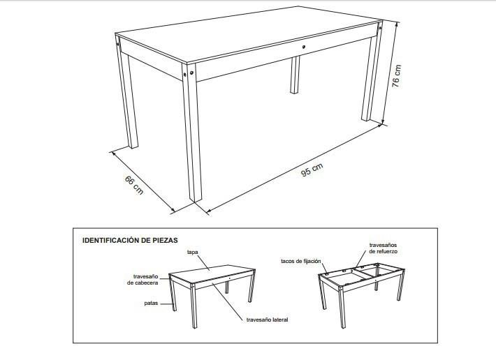 mesa auxiliar- esquema- construir- planos
