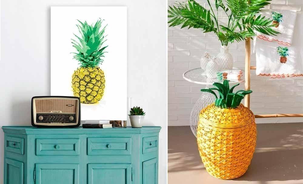 Cómo decorar con estilo tropical- piña
