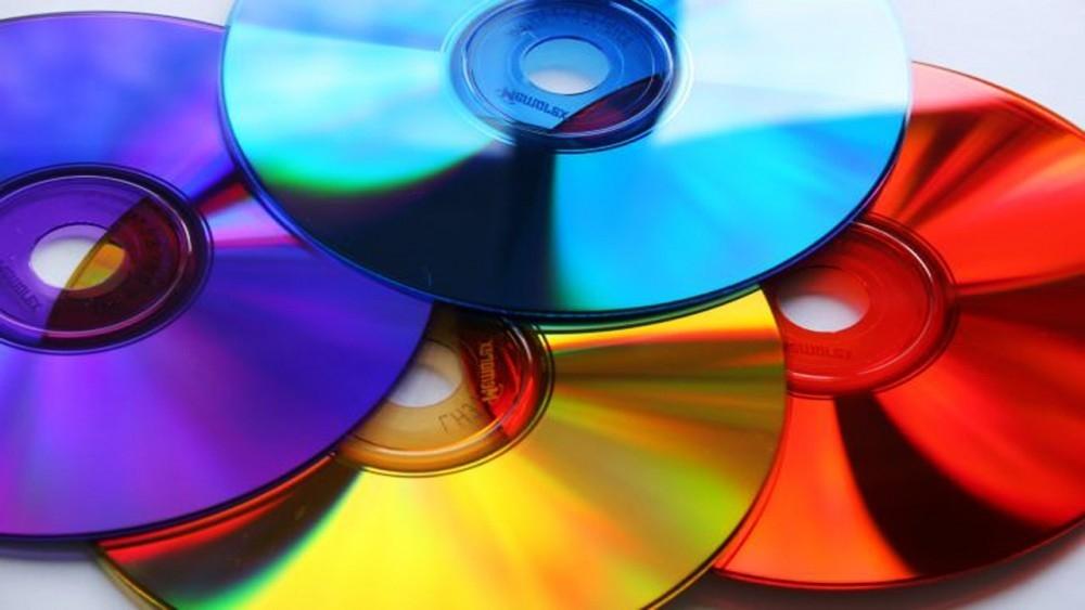 CDs reutilizados - cds de colores