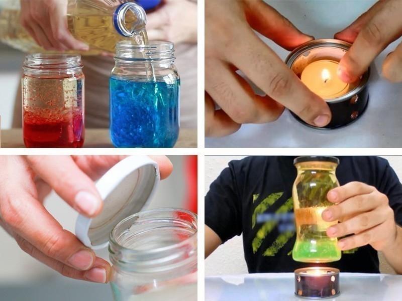 Cómo hacer una lámpara tipo lava casera- paso a paso