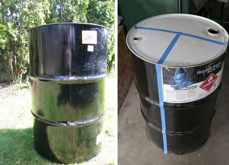 hacer un horno- parrilla con un barril reciclado - paso 1