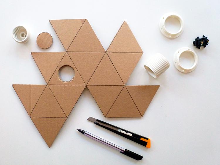 lámpara origami- procedimiento