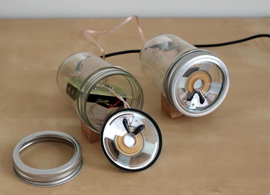 Altavoces con frascos de vidrio - paso 3