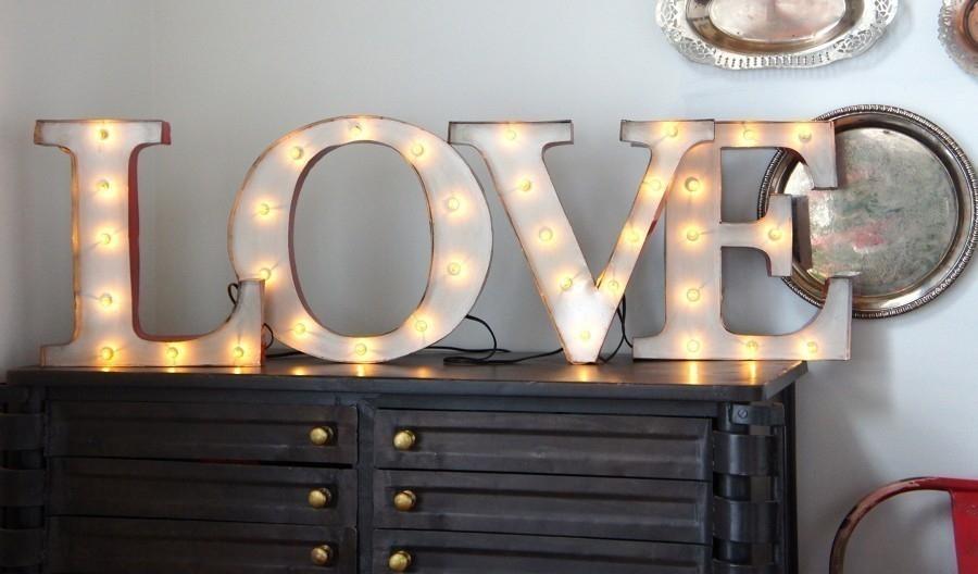 Cómo hacer letras luminosas