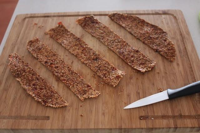 crocantes de lino - cortar