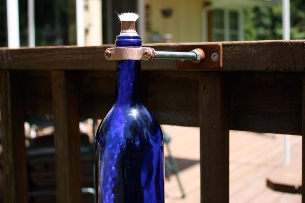 Antorcha con una botella de vidrio- paso 3