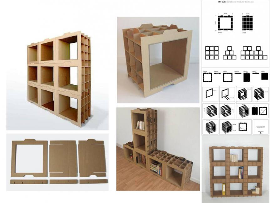 Muebles de cartón - módulos