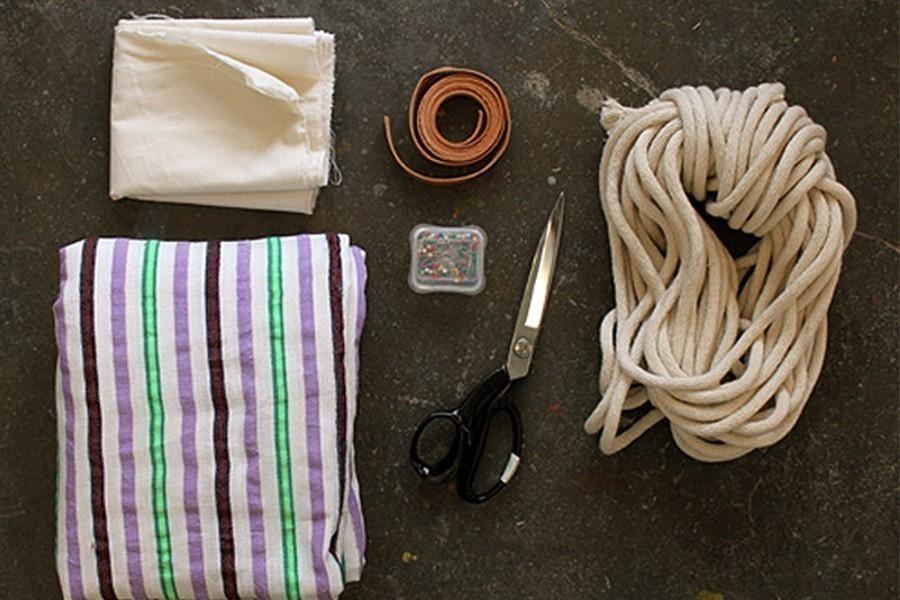 Hamaca para tu jardín o para llevar de camping - materiales