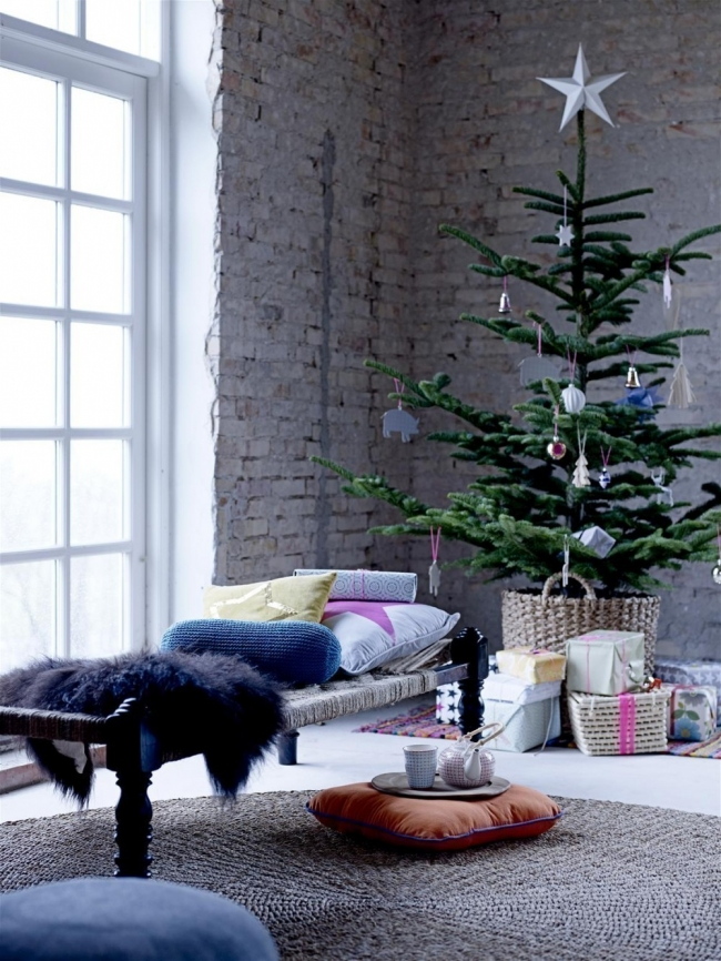 Árboles de Navidad para espacios pequeños - canasta cesta