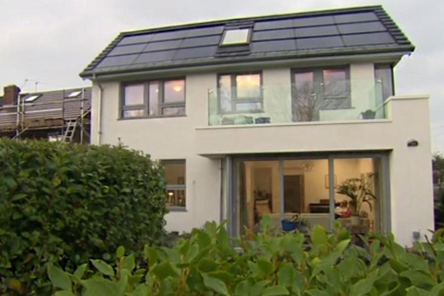 Casa que funciona con 40w - frente del hogar