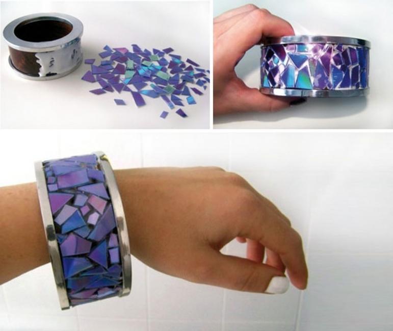 CDs reutilizados - pulsera