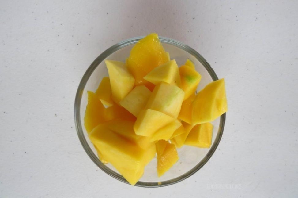 helado de mango preparación
