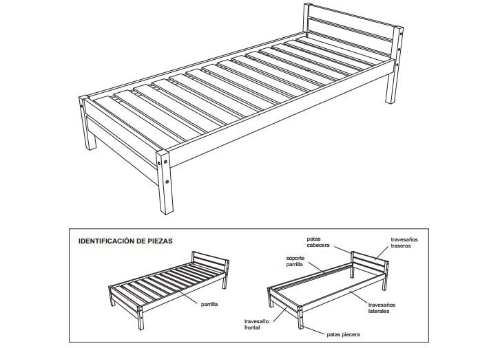 cama - esquema- construir- planos