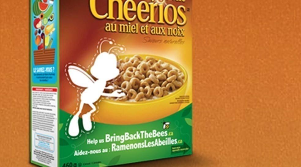 Cheerios desaparece abeja
