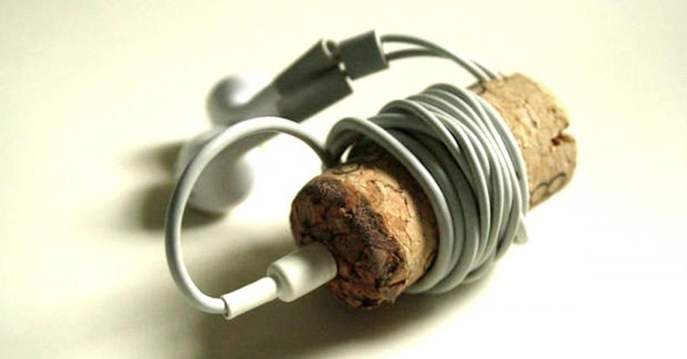 cosas que puedes hacer con un corcho- auriculares