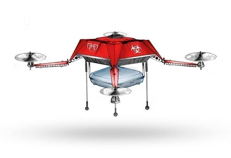 dron medicinas