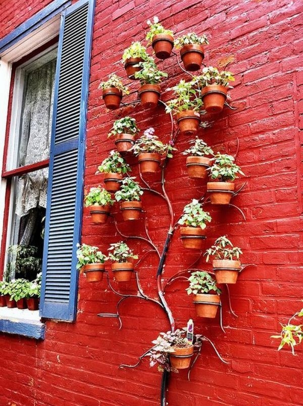 Pretty cool idea - tree wall planter