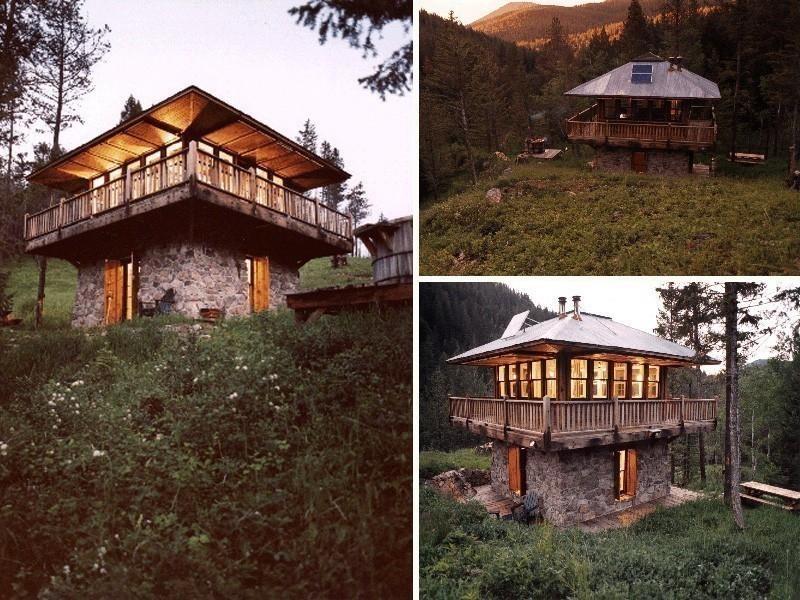 cabaña en las montañas