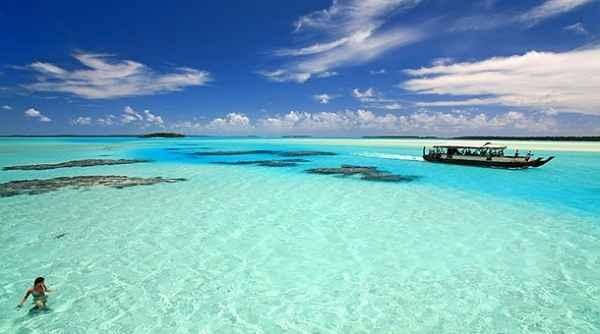 4- En Aitutaki, Islas Cook.