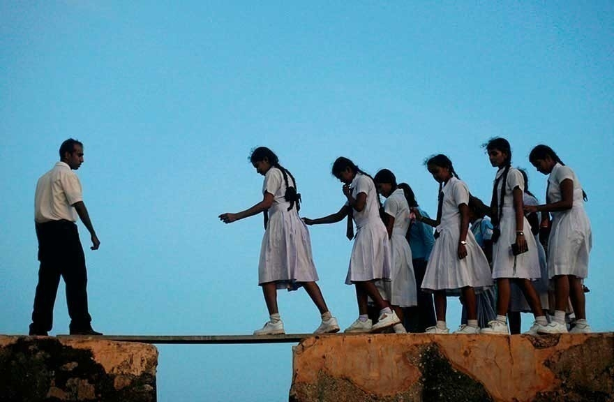 camino a la escuela - tabla