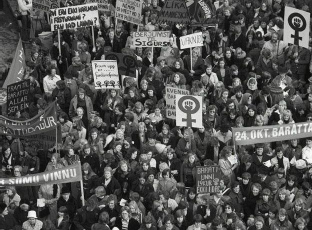 Huelga y movilización de mujeres en Islandia, 1975