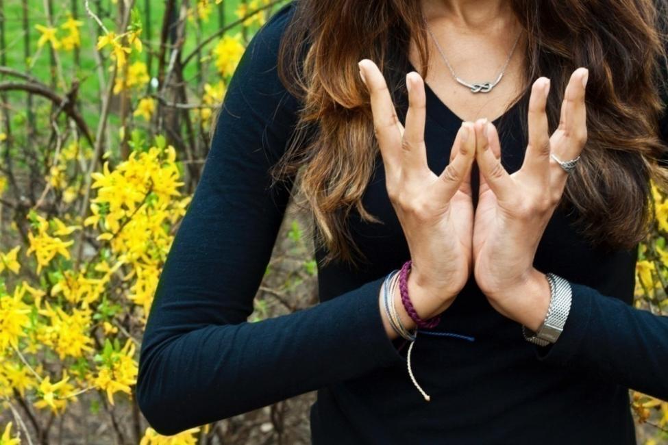 Padme mudra- mudras- posiciones de manos yoga