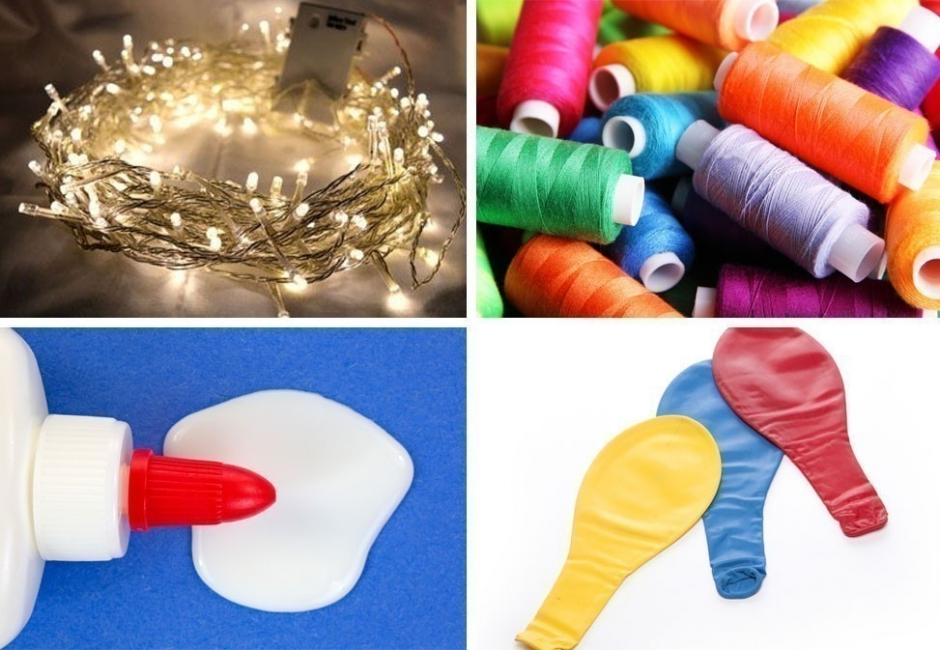 guirnalda de luces  - materiales