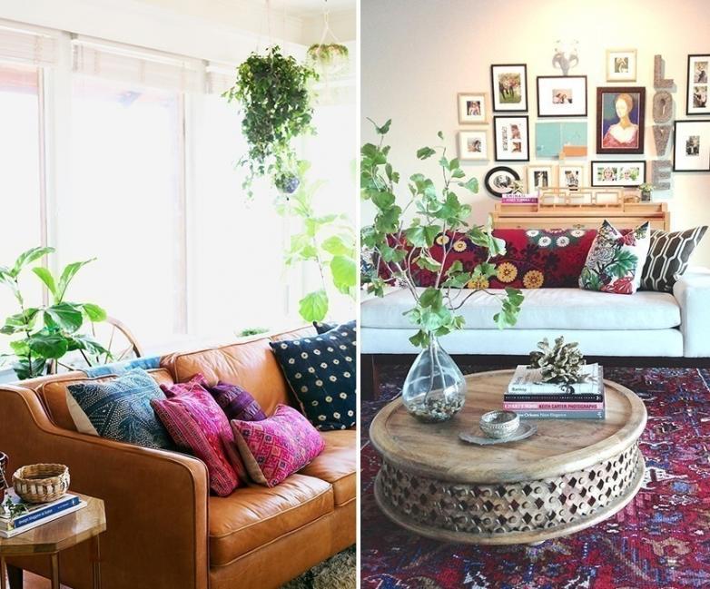 Ideas para decorar tu casa con estilo bohemio- plantas
