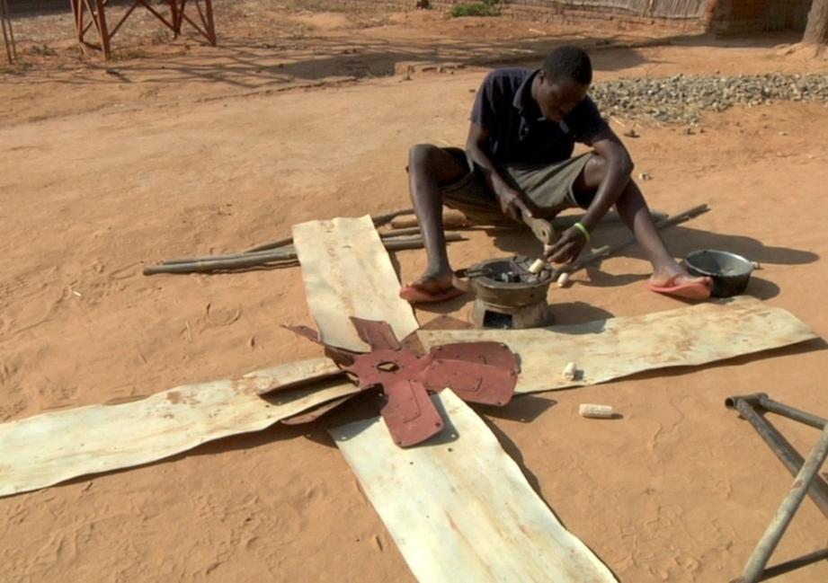 emprendedor africano molinos de viento
