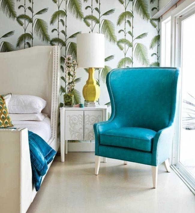 Cómo decorar con estilo tropical- contraste de colores