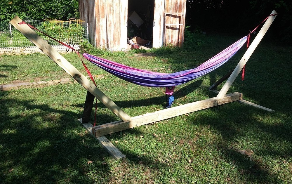 Cómo hacer un soporte para tu hamaca de jardín