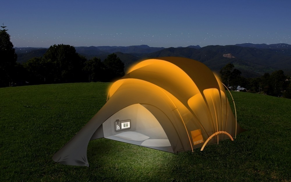 The Solar Concept Tent- energía solar- carpa